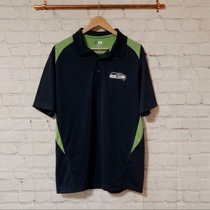 NFL Seahawks blue and green polo